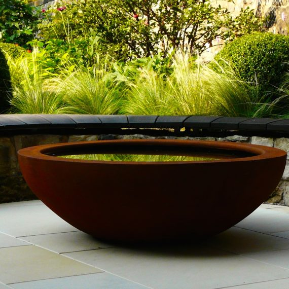 Urbis lily bowl, garden designed by Carolyn Grohmann