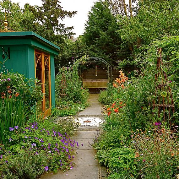 Kate Atkinson's garden, designed by Carolyn Grohmann