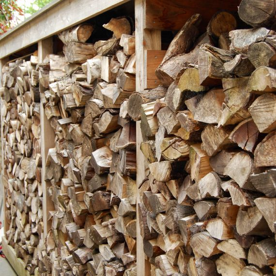 Larch log store, designed by Carolyn Grohmann